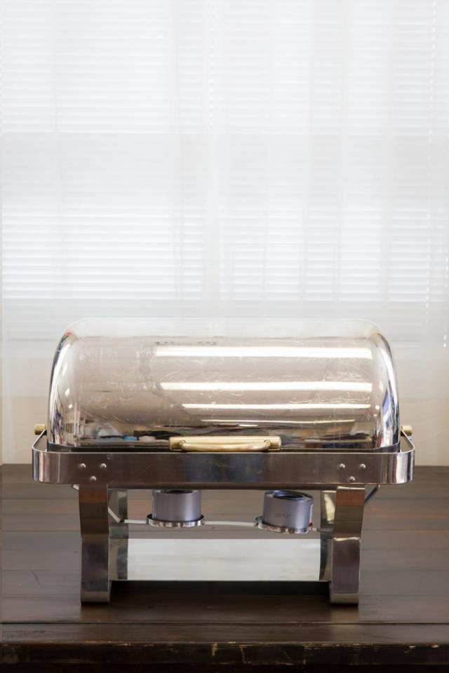 Where to find 8 Qt. Stainless Rolltop Chafer W  Brass in Richmond