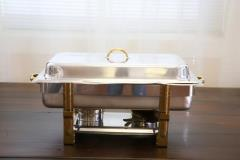 Rental store for 8 Qt. Brass Leg Stainless Chafer in Richmond VA