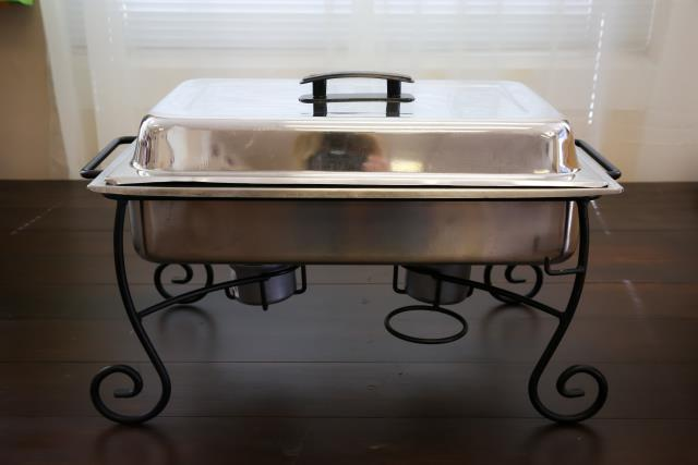 Where to find 8 Qt. Iron Leg Stainless Chafer in Richmond