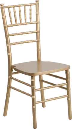 Rental store for Gold Wooden Chiavari Ballroom Chair in Richmond VA