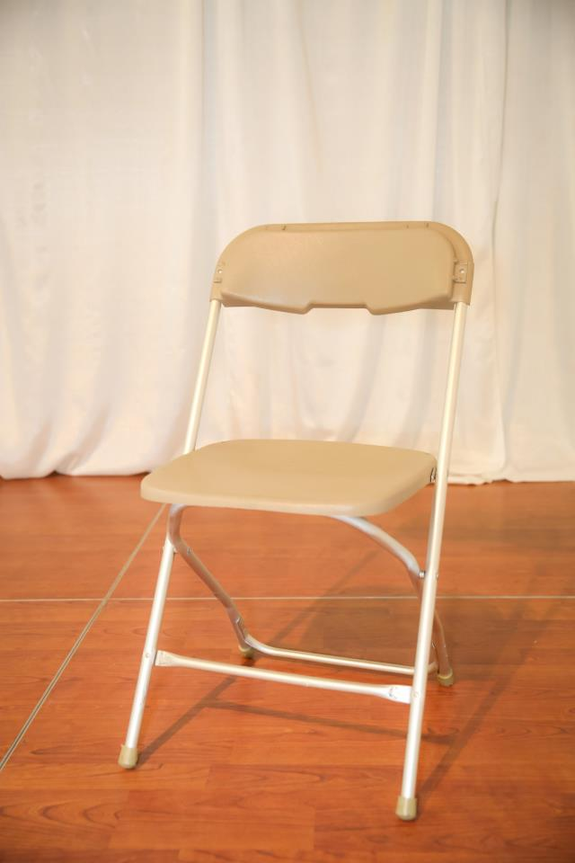 Where to find Tan On Satin Folding Chair in Richmond