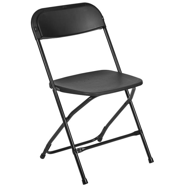 Where to find Black Vinyl Folding Chair in Richmond