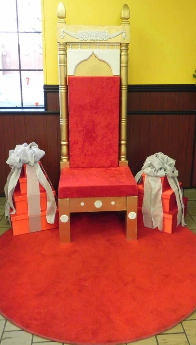 Where to find Red Throne Chair in Richmond