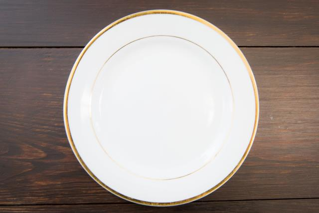 Where to find White W  Gold Rim Salad Plate in Richmond