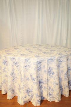 Rental store for 120  Round Blue Toile in Richmond VA