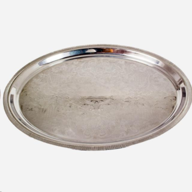 Where to find 22  X 16  Oval Silver Tray in Richmond