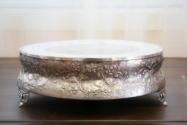 Where to find 18  Round Silver Cake Stand in Richmond