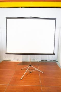 Rental store for Projector Screen on Tripod 7 W-6 H in Richmond VA