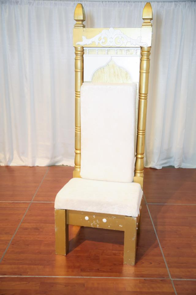 Where To Find White Throne Chair In Richmond