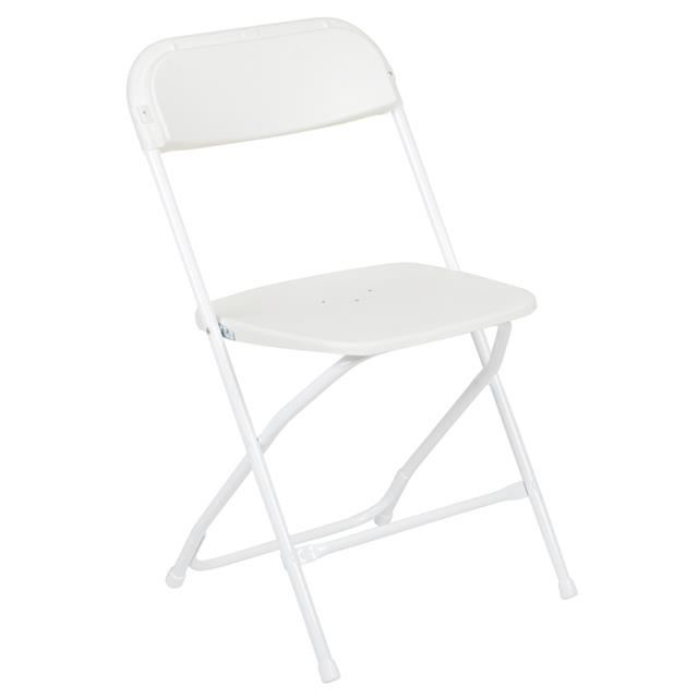 Where to find White Vinyl Folding Chair in Richmond
