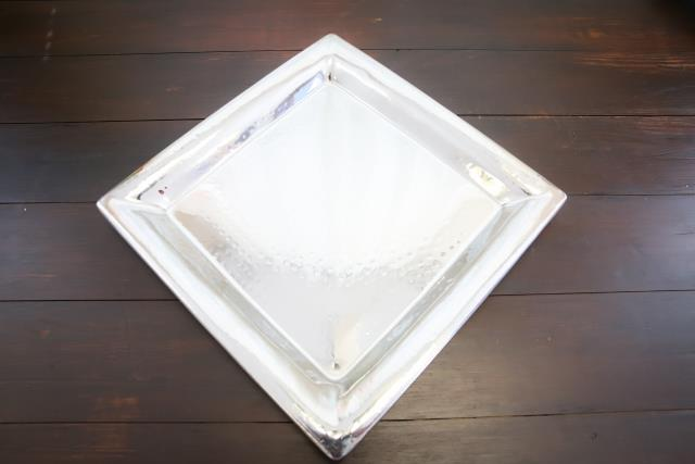 Where to find 16  Hammered Square Tray SS in Richmond