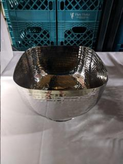 Rental store for 10 x 8  Hammered Square Bowl SS 10 QT in Richmond VA