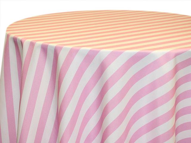 Where to find 120  Round Pink Awning Stripe Poly in Richmond