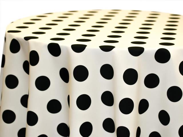 Where to find 120  Round Black on Ivory Big Dot Poly in Richmond