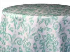 Rental store for 120  Round Spearmint Ikat Poly in Richmond VA