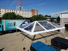 Rental store for 20 Ft Wide CLEAR Hip End Frame Tents in Richmond VA