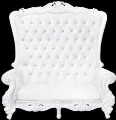 Rental store for White Love Seat Throne in Richmond VA